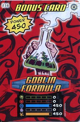 Spiderman Heroes And Villains Card #238 Goblin Formula