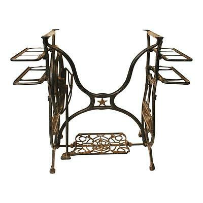 Antique CAST IRON Treadle Base table vintage sewing machine industrial metal dom