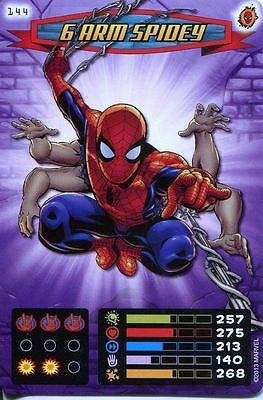 Spiderman Heroes And Villains Card #144 6 Arm Spidey