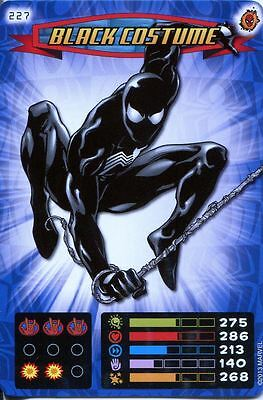 Spiderman Heroes And Villains Card #227 Black Costume