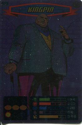 Spiderman Heroes And Villains Card #073 Kingpin Foil
