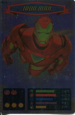 Spiderman Heroes And Villains Card #077 Iron Man Foil