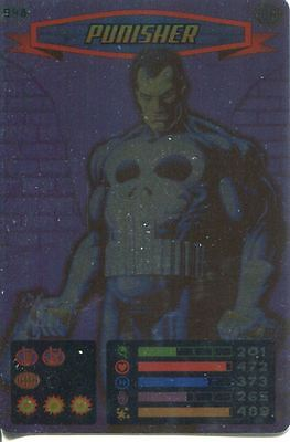 Spiderman Heroes And Villains Card #048 Punisher Foil