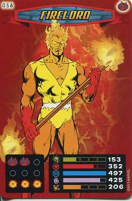 Spiderman Heroes And Villains Card #058 Firelord