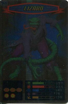 Spiderman Heroes And Villains Card #065 Lizard Foil