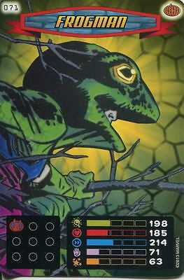 Spiderman Heroes And Villains Card #071 Frogman