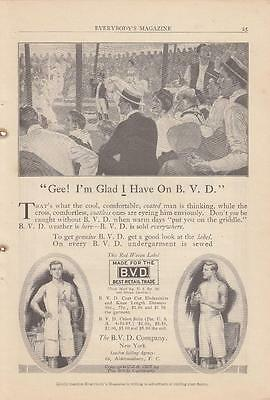 1913 The B V D Company New York NY Ad: BVD Undershirts Drawers Union Suits