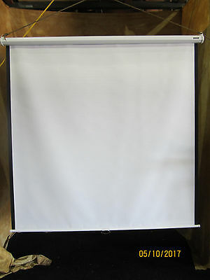 "Da Lite Model C Matte White Pull Down Screen 70"" x  70"" New in Box"