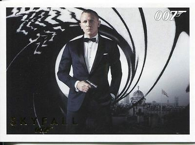 James Bond Autographs & Relics Complete 110 Card Skyfall Gold Parallel Base Set