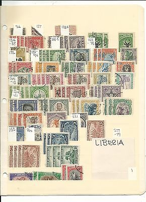 Liberia Collection, Nice Variety to Pick Through, 7 Pages