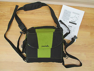 Munchkin apple green , black, blue  portable travel booster seat