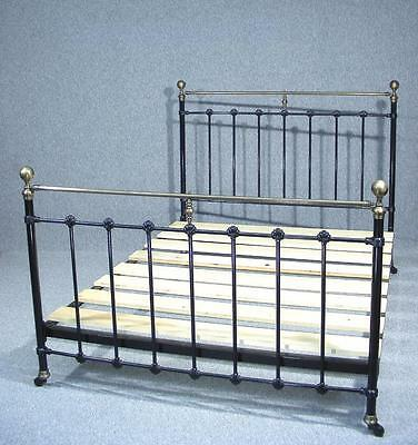 Beautiful Victorian Brass And Iron King Size Bed