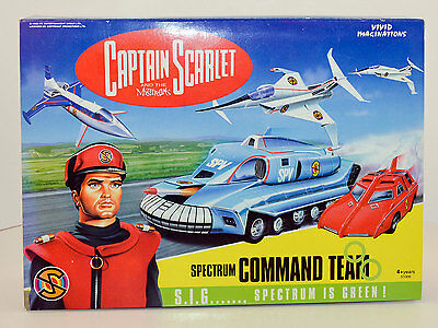 Captain Scarlet SPECTRUM COMMAND TEAM Diecast Set 51006 * Vivid Imaginations MIB
