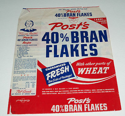 1950's Post Bran Flakes Cereal Box w/ Sherlock Holmes book offer