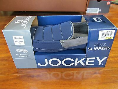 Brand New JOCKEY Mens Slippers Size M OR XL Blue Silver $38.00