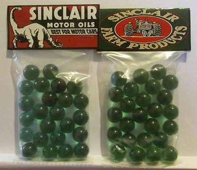2 Bags of SinclairGasoline Motor Oil Advertising Promo Marbles