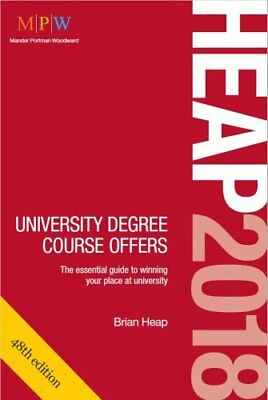 Heap 2018: University Degree Course Offers by Brian Heap (Paperback, 2017)