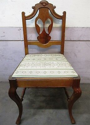 Antique / Vintage Queen Anne Style Wood Accent Chair - Seattle Pickup Only