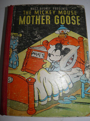 Vintage HB Walt Disney Presents The Mickey Mouse Mother Goose Book - 1937 As is