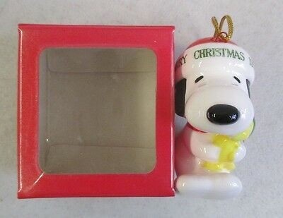 Mib 1977 Dupont Collection Peanuts Christmas Snoopy & Woodstock Limited Ornamant