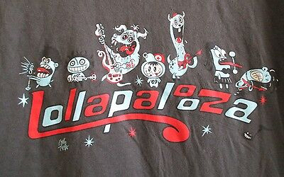 2009 Lolapalooza Chicago Concert Large Green Tshirt Depeche Mode Tools Lou Reed