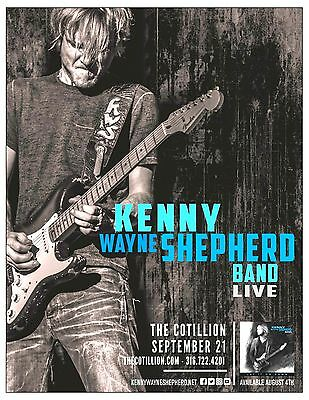 "KENNY WAYNE SHEPHERD BAND ""LIVE"" 2017 WICHITA CONCERT TOUR POSTER - Blues Rock"