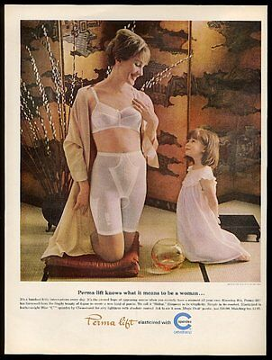 1965 Perma Lift bra panty girdle photo Chemstrand Spandex vintage print ad