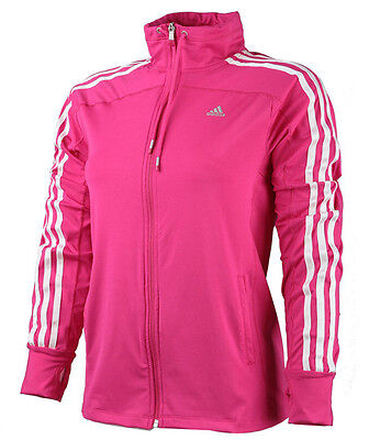 Adidas Women'S Jacket Pink Leisure Fitness Sport in S M L XL XXL Ladies NEW