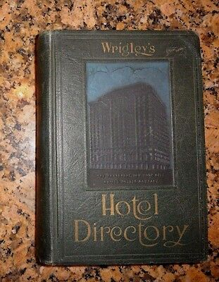 Vintage 1929 Wrigley's Hotel Directory for USA Canada & World Large w/Photos VGC