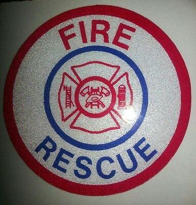 """Emergency Fire Rescue Decal, Firefighting Decal, Reflective 3.75""""  #FD05"""
