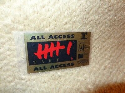 Take 6 *Vintage Access Laminated Concert Pass!