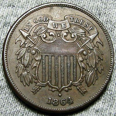 1864 Two Cent Piece --- TYPE COIN --- #W742