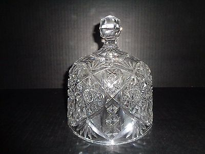 ABP Amazing CRYSTAL CUT COVER / DOME for Cheese Dish  American Brilliant Period