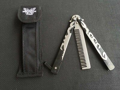 Black SCORPION Practice Comb BALISONG BUTTERFLY Trainer Knife