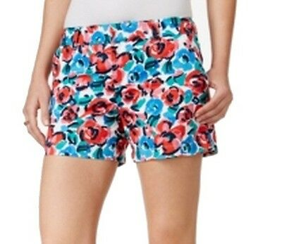Tommy Hilfiger NEW Blue Pink Women's Size 12 Floral Printed Shorts $49 #368