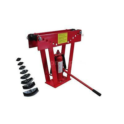 16 Ton Hydraulic Tube Rod Pipe Bender with 8 Dies R6X9