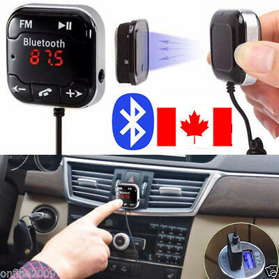 Car Kit Wireless Bluetooth FM Transmitter MP3 Player CAB LCD Remote Handsfree CA