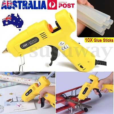 100w Glue Gun Electric Heating Craft Hot Melt Glue Gun scrapbook +10 Glue Sticks