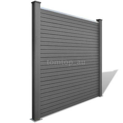 Square WPC Garden Fence Panel Grey M2A1