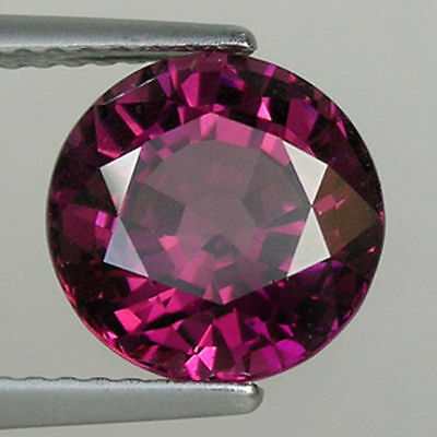 RARE 5mm ROUND-FACET PURPLE/RED NATURAL AFRICAN RHODOLITE GARNET GEMSTONE