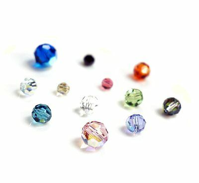 1b6a5e2e0 Swarovski Elements Crystal 5000 Round Faceted Bead AB Many Color & Size #2