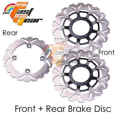 Front Rear SS Brake Disc Rotor Set Fit Honda (Radial Caliper) CBR600RR 05 06