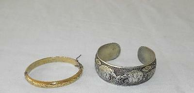 2 Collectable Vintage Ladie's Sterling Silver Hallmarked Bangles