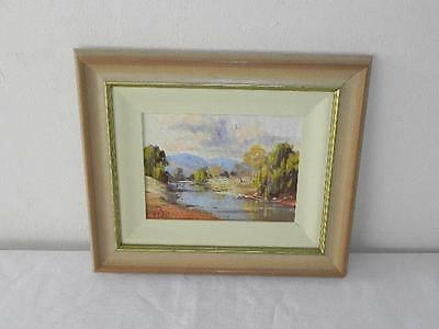 Australian Artist signed William O'Shea Oil Painting Art Picture The Turon