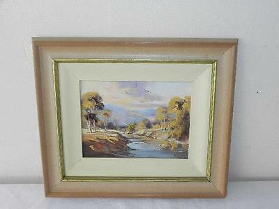 Australian Artist signed William O'Shea Oil Painting Picture Cudgegong River