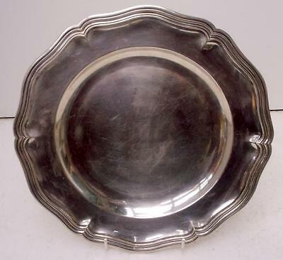 """Vintage French Christofle Silver Plated 10 1/2"""" Dinner Plate"""