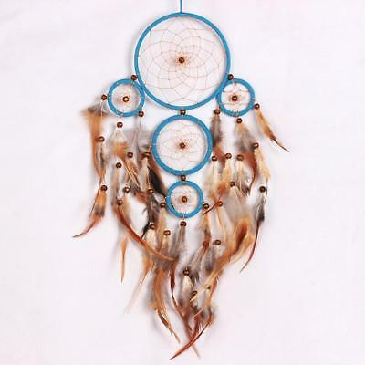 Traditional Feather Dream Catcher Bad Dreamcatcher Wall Hanging Blue Brown