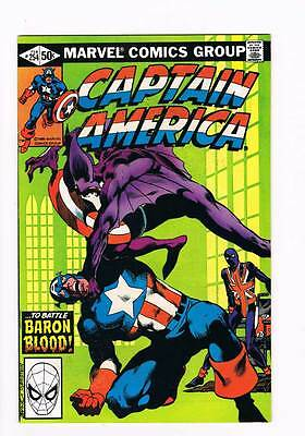 Captain America # 254  ...To Battle Baron Blood !  grade 8.5 scarce book !