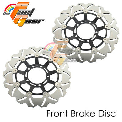 Racing Front Brake Disc Rotor x2 Fit Triumph SPRINT 1050 ST 2005 2006 2007 2008