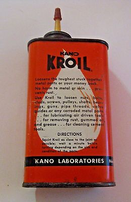 Vintage Kano Kroil Advertising Oil Can ~ See All Our Oil Cans